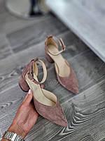 Женские босоножки из замши на каблуке.Размер 36-40, фото 1