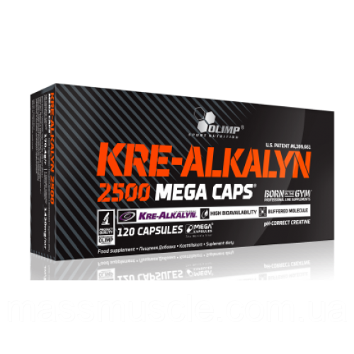 Креатин Olimp Nutrition Kre-Alkalyn 2500 Mega 120 капс