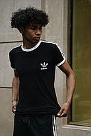 Чёрный летний комплект спортивный Adidas | Украина | футболка + шорты, фото 1