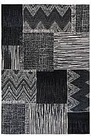 Красивий килим Шеніл сірий 1,55 х 2,3 м.