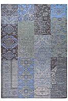 Килим Шеніл сірий 1,2 х 1,7 м, килим на підлогу, безворсовий килим, фото 1