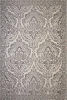 Серый винтажный ковер Шенилл 1,6 х 2,3 м, турецкий ковер на пол, безворсовый ковер, фото 1