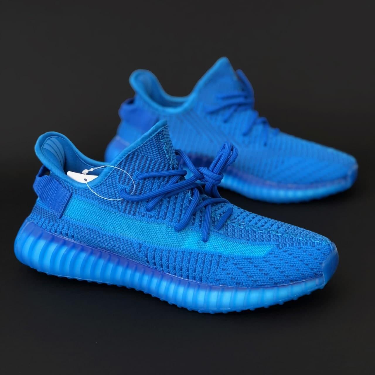 Женские кроссовки Adidas Yeezy Boost 350 v2 blue