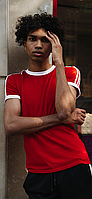 Красный летний комплект спортивный Adidas   Украина   футболка + шорты, фото 1