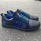 Кроссовки Adidas р.45 кожаные Харьков тёмно-синие, фото 2