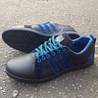 Кроссовки Adidas р.45 кожаные Харьков тёмно-синие, фото 4