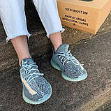 Кроссовки Adidas Yeezy boost 350 v2 Ash Blue, фото 3