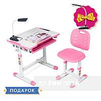 Комплект парта + стул трансформеры Piccolino III Pink FunDesk, фото 1