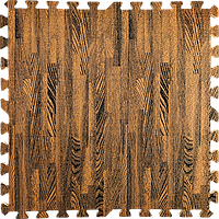 Пол пазл - модульное напольное покрытие 600x600x10мм коричневое дерево (МР6)