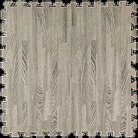 Пол пазл - модульное напольное покрытие 600x600x10мм серое дерево (МР9)