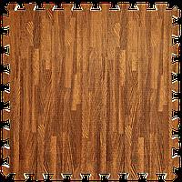 Пол пазл - модульное напольное покрытие 600x600x10мм красное дерево (МР1)