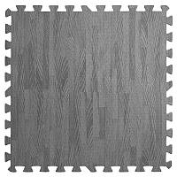 Пол пазл - модульное напольное покрытие 580x580x10мм темно-серое дерево (МР13)