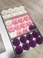 Жоржини Мильні квіти оптом квіти з мила Квіти із міла коробка