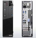 Системний блок Lenovo m83 SFF-Intel Core-i3-4130-3,4GHz-4Gb-DDR3-HDD-500GB-DVD-RW-W7P- Б/В, фото 2
