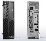 Системный блок  Lenovo M90P SFF-Intel Core-i5-650-3,2GHz-4Gb-DDR3-HDD-250GB-DVD-RW-W7P- Б/У, фото 2