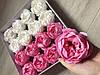 Пион Мыльные цветы оптом цветы из мыла Квіти із мила коробка