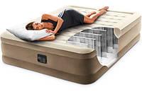 Надувне ліжко 203*152*46 см двоспальне з вбудованим насосом Intex 64458, фото 1