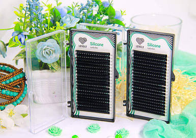 Ресницы черные Lovely серия Silicone Eyelashes - 20 линий 0.10 С и Д  10 мм
