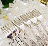 Набор посеребренных десертных вилочек с розой на ручке, серебрение, Hildesheimer Rose, Германия, JUSTINUS SOLI, фото 6