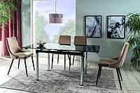 Стол стеклянный кухонный GD 018 черный, стол кухонный, стол на кухню, стеклянный стол, стол