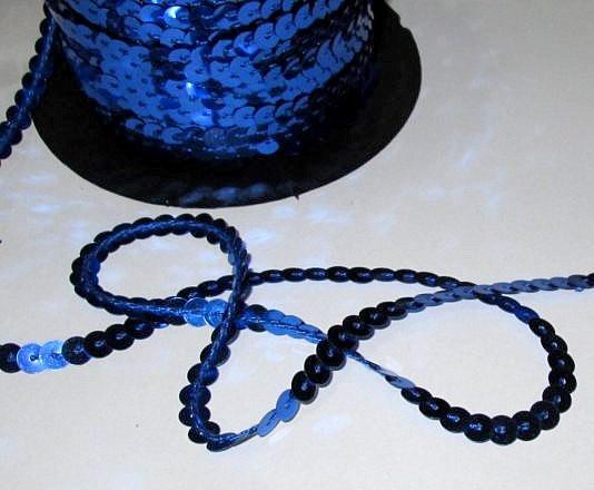 Пайетки в ленте, синие