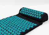 Набір Аплікатор Кузнєцова масажний акупунктурний килимок + подушка масажер для спини/ніг OSPORT Pro (n-0006), фото 2