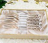 Набор посеребренных десертных вилочек с розой на ручке, серебрение, Hildesheimer Rose, Германия, JUSTINUS SOLI, фото 9