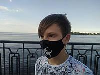 Маска многоразовая тканевая защитная черная Биозащита на лицо, маска для рта