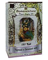 Чай чорний з зеленим з ароматом суниці і тропічних фруктів Bonaventure 1001 Night 100 г (1757)