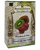 Чай зелений з полуницею та ківі Bonaventure Strawberry & Kiwi Ганпаудер 100 г (1755)