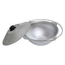 Казан татарский алюминиевый с крышкой и дужкой на 6 литров