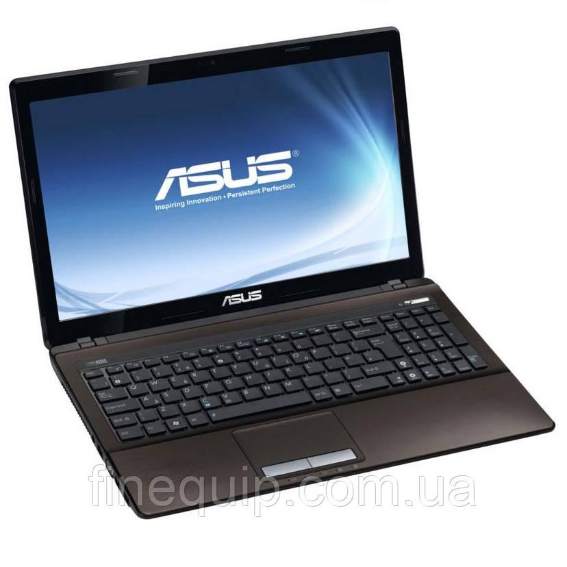 Ноутбук ASUS K53S-Intel Core i5-2410M-2.3GHz-4Gb-DDR3-320Gb-HDD-W15.6-Web-NVIDIA GeForce GT540M(2Gb)-(C-)- Б/У