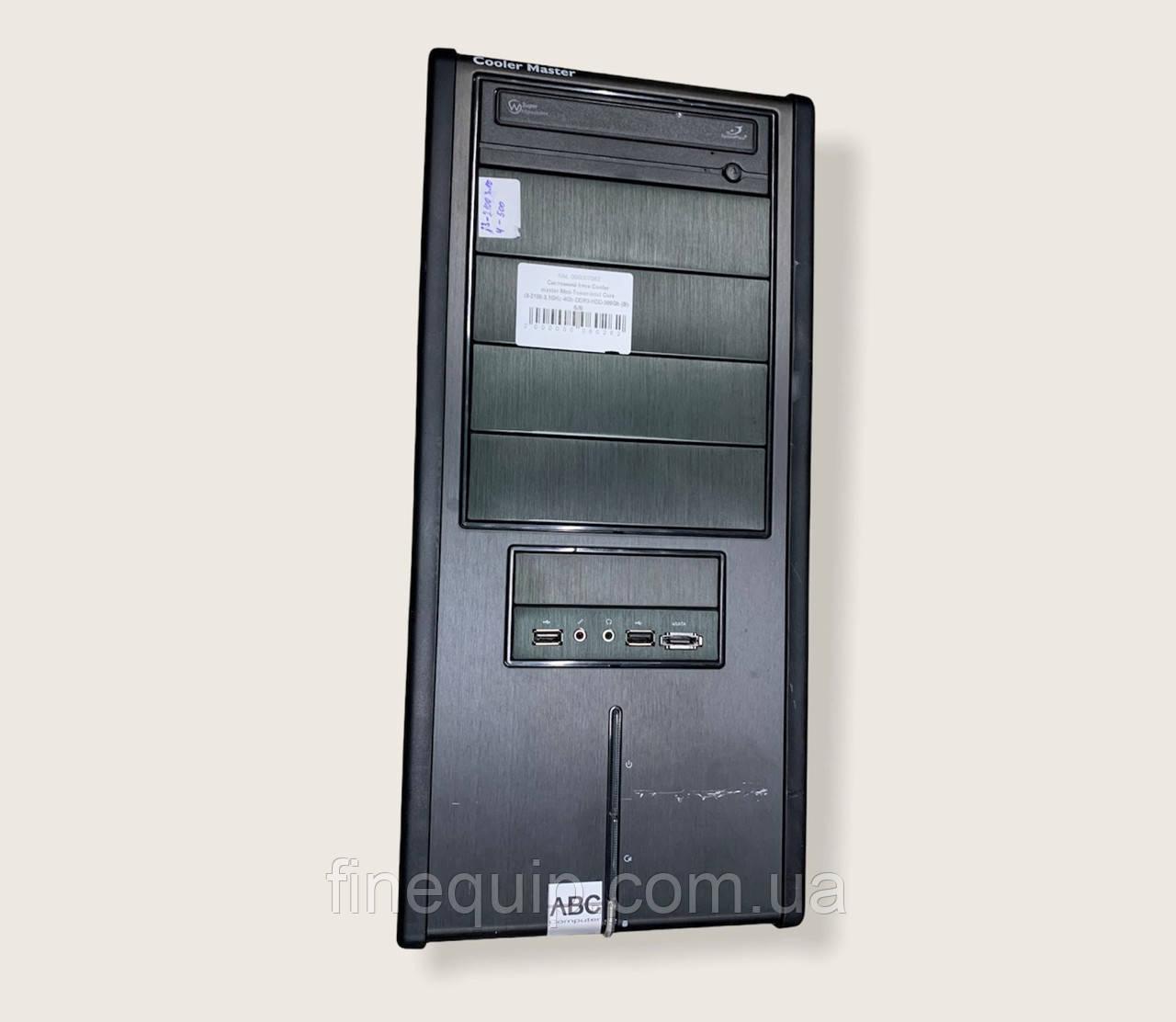 Системний блок-Cooler master-Mini-Tower-Intel Core i3-2100-3,1GHz-4Gb-DDR3-HDD-500Gb-(B)- Б/В