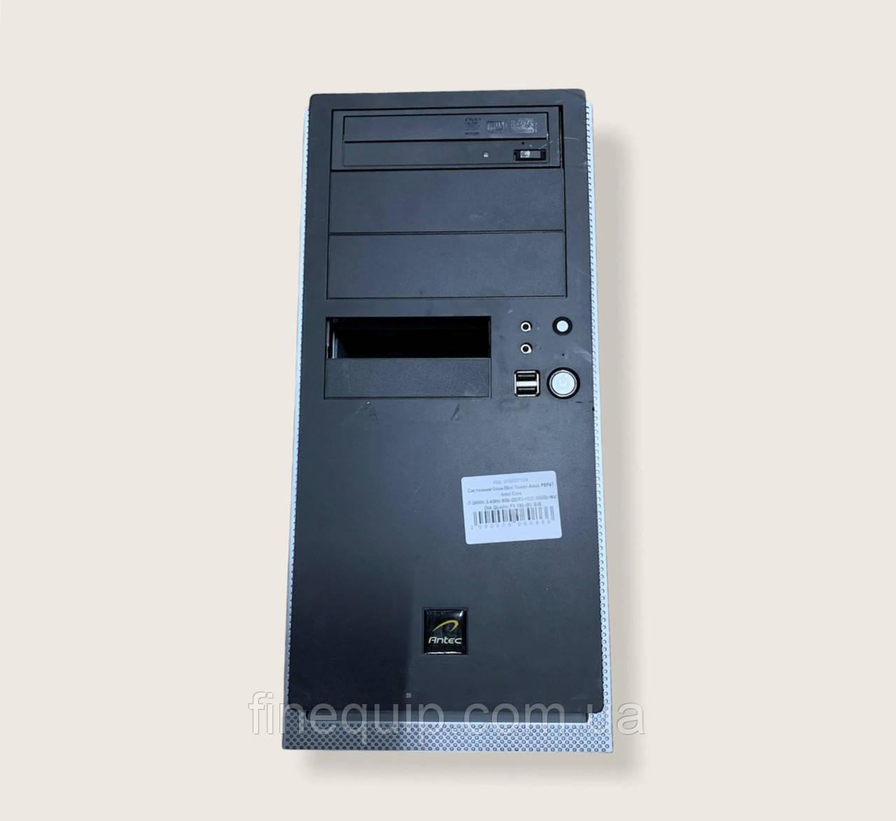Системный блок-Mini-Tower-Asus P8P67 -Intel Core i7-2600K-3,4GHz-8Gb-DDR3-HDD-500Gb-NVIDIA Quadro FX 580-(B)-