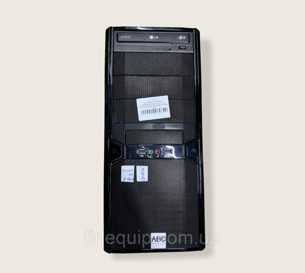 Системний блок-Gigabyte GA-B85M-D3H-Mini-Tower-Intel Core i3-4130-3,3GHz-8Gb-DDR3-HDD-500Gb-(B)- Б/В
