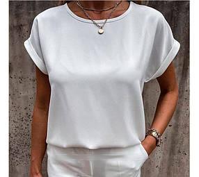 Летняя блузка футболка свободного кроя