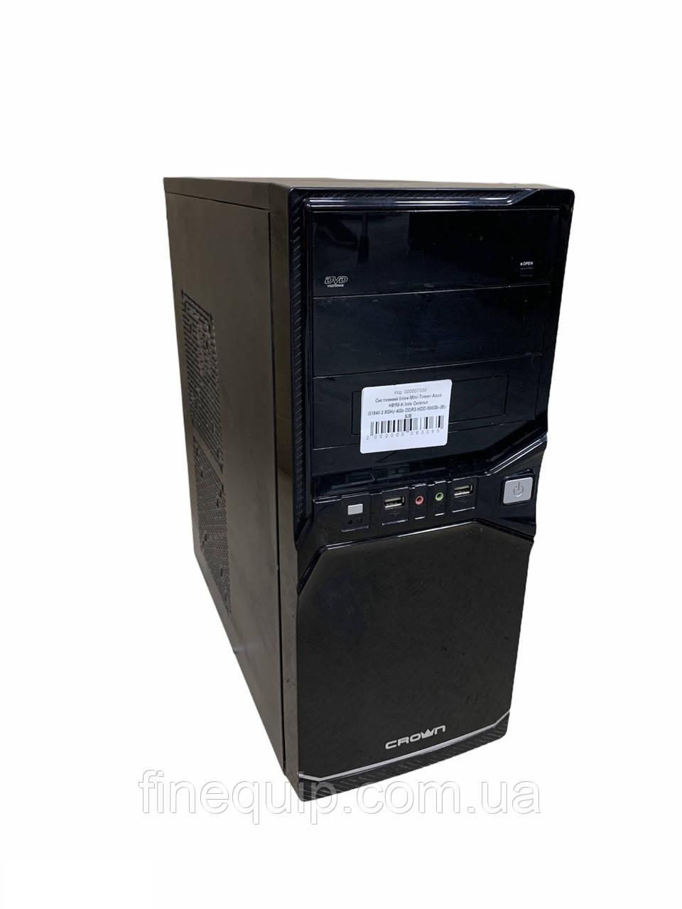 Системний блок-Mini-Tower-Asus H81M-K-Inte Celeron G1840-2.7 GHz-4Gb-DDR3 HDD-500Gb-(B)- Б/У