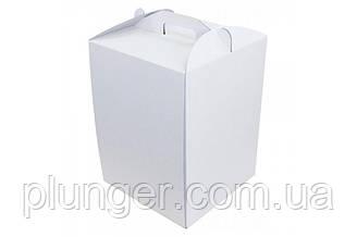 Коробка картонна для торта 30 см х 30 см х висота 40 см, для високого торта (30Т)