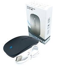 Тонкая беспроводная мышь с аккумулятором (без BT адаптера) Черный