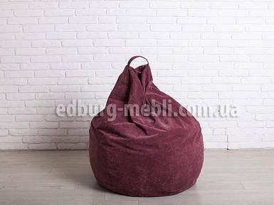 Крісло мішок груша велика | бордовий флок Puma