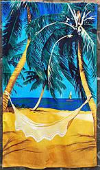 """Полотенце махровое банное 70х140  коврик для пляжа   """"Пальма"""" хлопок 100%"""