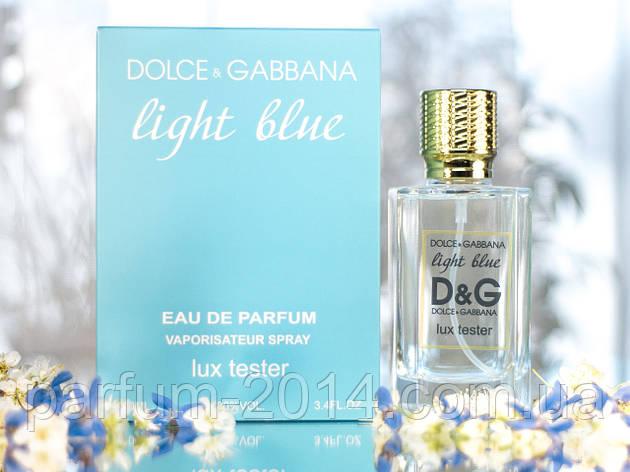 Жіночі парфуми Дольче габбана лайт блю Dolce & Gabbana Light Blue pour femme 100 ml (осіб) парфум тетерів tester, фото 2