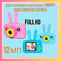 Противоударный цифровой детский фотоаппарат игрушка, видеокамера зайчик Smart Kids Camera 3 Series(игрушки)