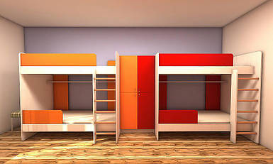 Набір меблів для готелю, хостелу для 8-х чоловік №1, меблі для готелів