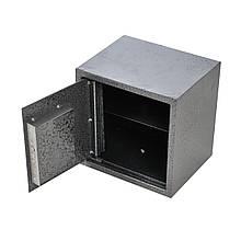 Сейф мебельный металлический для денег бумаг документов 25х25х20 см (Маленький сейф с механическим замком)