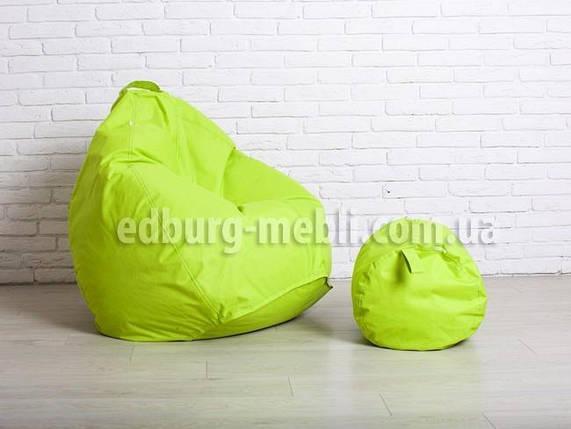 Кресло груша большая + Пуф    салатовый Oxford, фото 2