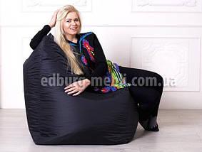 Крісло мішок Фоксі | чорний Oksford, фото 2
