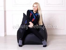 Крісло мішок Фоксі | чорний Oksford, фото 3