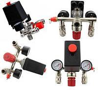 Пресостат в зборі (прессостат, редуктор, 2 манометра, запобіжний клапан, два виходи) Profline 20E