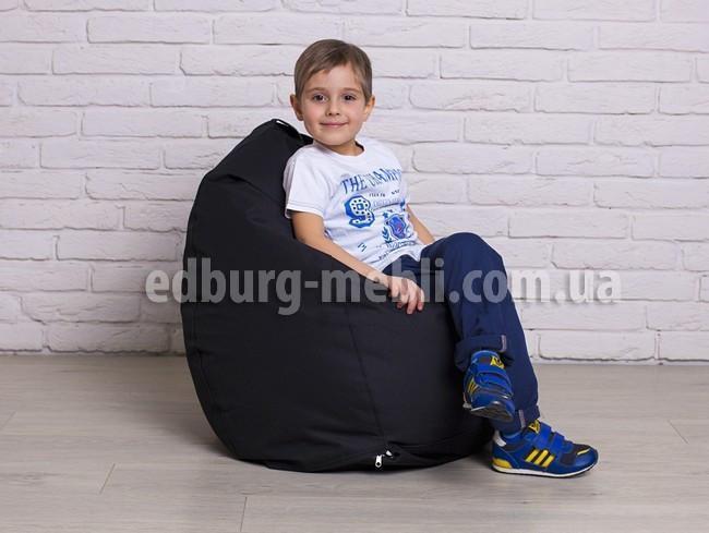Крісло мішок груша дитяча | чорний Oxford